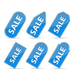 Blue Price Tags vector image