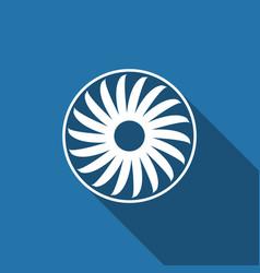 ventilation sign icon ventilator symbol flat icon vector image vector image