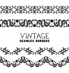 Vintage semless borders vector image vector image