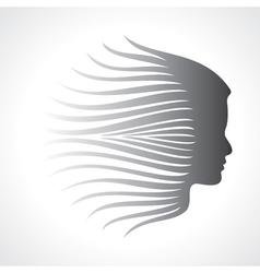Beautiful fashion lady face vector image