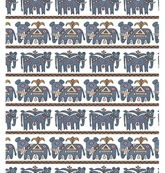 blue elephantes vector image vector image