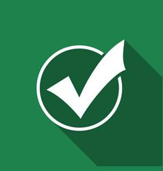 Check list button icon check mark in round sign vector