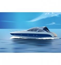 luxury boat vector image vector image