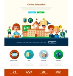 Scool education website header banner with vector