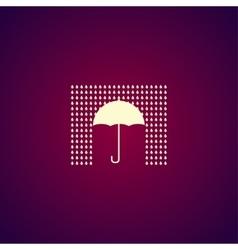 Umbrella sign icon Rain protection symbol Flat vector image vector image