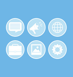 Digital advertising and marketing vector
