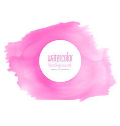 pink watercolor stain texture background vector image vector image