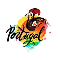 Portugal The Travel Destination logo vector image vector image