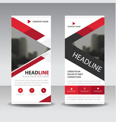 red triangle business roll up banner flat design vector image