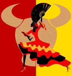 spanish flamenco vector image