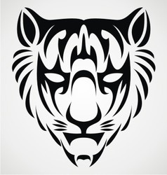 Tiger Face Tattoo vector image vector image