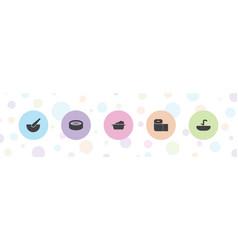 5 bath icons vector