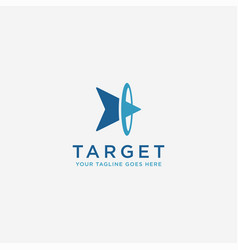 abstract head arrow on target logo icon vector image