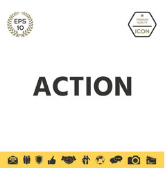 Action button symbol vector