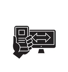 Adaptive design black concept icon vector