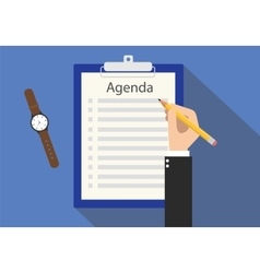 Agenda meeting to do list on clipboard vector