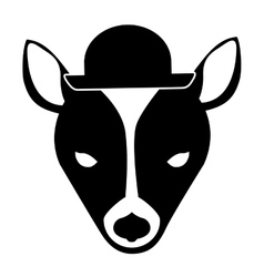 Animal hipster style vector