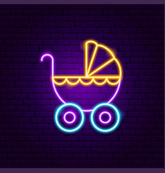 Bacarriage neon sign vector