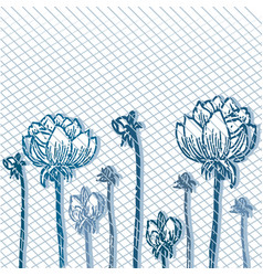 background of flowers vintage 2 vector image
