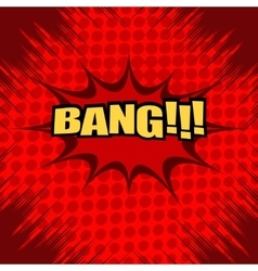 Bang comic text vector image