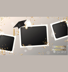 banner for design graduation vector image