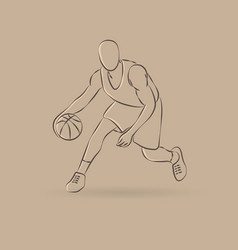 Basketball man outline vector