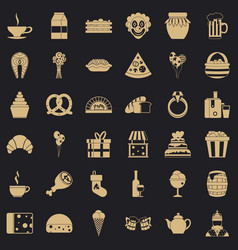 Big bounty icons set simple style vector