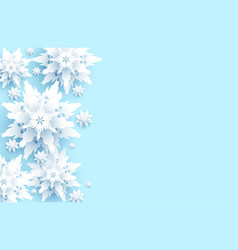 big snowflakes on light blue vector image