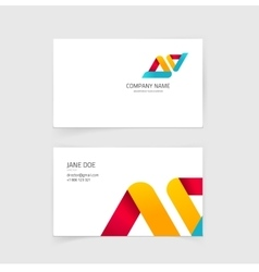Business visiting card layout design vector