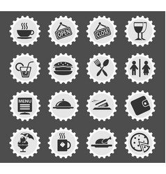 Cafe silhouette icons vector
