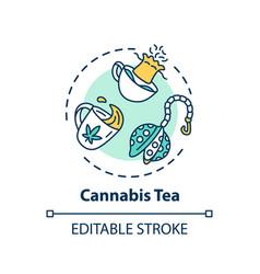 Cannabis tea concept icon vector