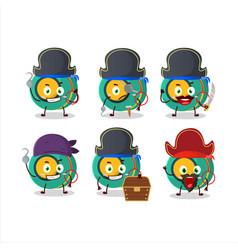 Cartoon character kids yoyo with various pirates vector