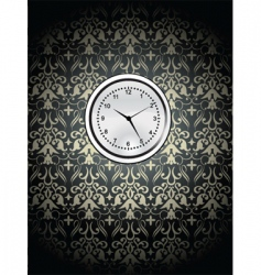 clock on wall vector image