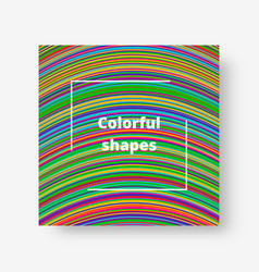 Color graphic with stripes vector