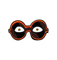 Comic cartoon eyes in dark glasses vector