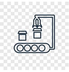 Conveyor concept linear icon isolated on vector