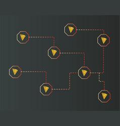 Cryptocurrency tron blockchain on dark background vector