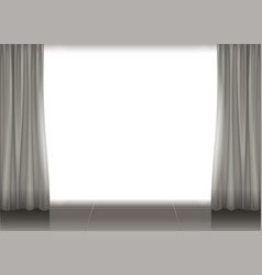 Curtains and illuminated scene vector