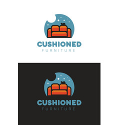 cushioned furniture logo vector image