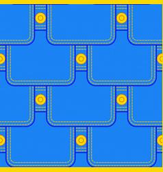 Denim pocket pattern vector