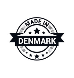 denmark stamp design vector image