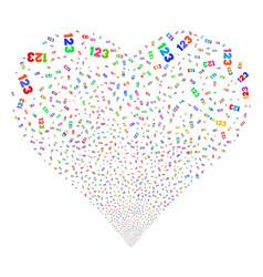 digits fireworks heart vector image
