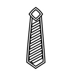 Elegant tie isolated icon design vector