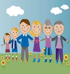 family 2 vector image