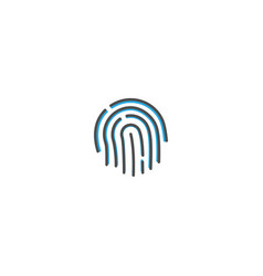 finger print icon design essential icon vector image