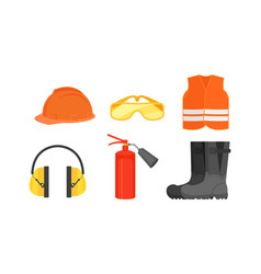 Firefighter and builder protective workwear vector