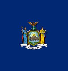 Flag new york state coat of vector