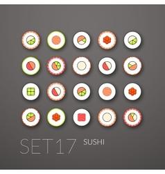 Flat icons set 17 vector