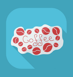 Flat modern design with shadow icon coffee vector