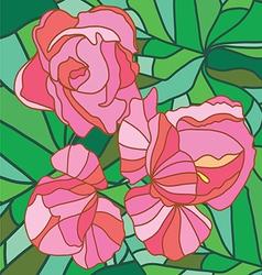 Floral art print vector